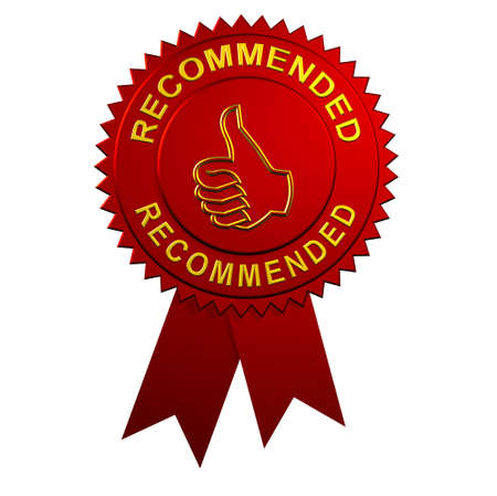 Recommended Award with Ribbons