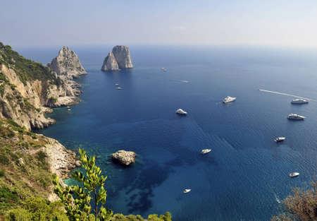 The Faraglioni Rocks off the Island of Capri near Naples in Italy