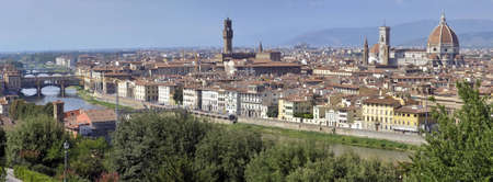 Panoramic view of Florence in Italy from Piazzale Michelangelo