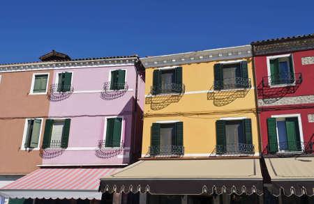 Colorful scene, Burano, Venice, Italy