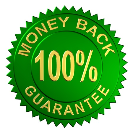 money back: Seal Embossed with Money Back Guarantee Stock Photo