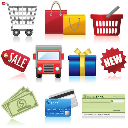 Shopping Business and e-Commerce Icons