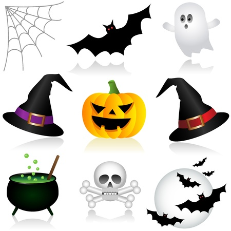 Set of Halloween Icons Stock Vector - 22013665