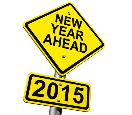 New Year Ahead 2015 signs