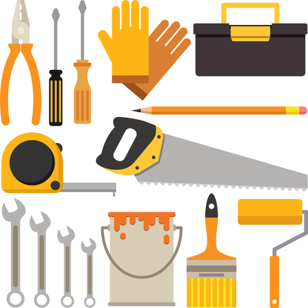 A Set of Tool Icons Suitable for DIY or Handyman Business