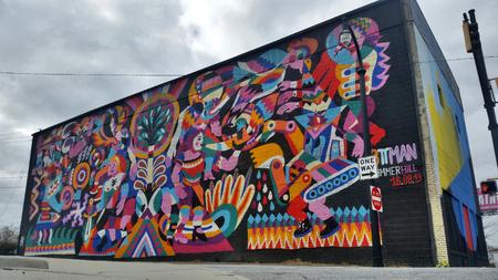 A street art mural in Summerhill neighborhood in Atlanta Georgia