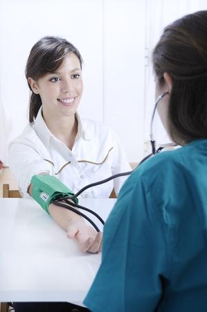 nurse and woman, checkup Stock Photo - 8886662