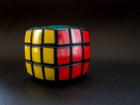 round rubik's cube allready solved studio light leather