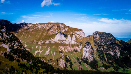 special rock formation in the swiss alps alpstein Archivio Fotografico