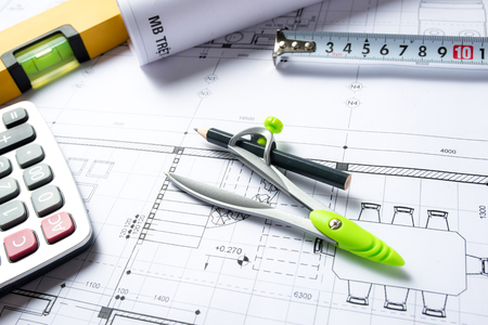 figuring: House plans with calculator for costing estimate