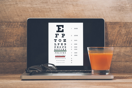 Caring for eye sight by healthy eating.