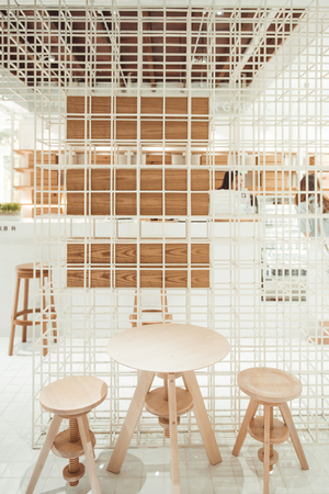 Coffee shop. Decoration and furniture in cafe