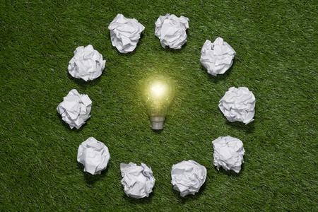In search of great idea. Creative idea concept