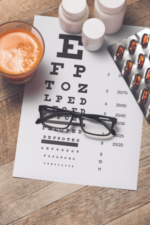 Concept of Eyes care for healthy eyes. Stock Photo