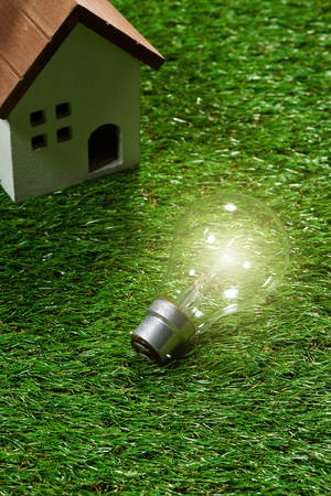 Green building house and energy saving concept