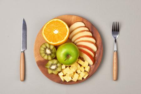 Healthy eating, dieting. Fresh various citrus fruits