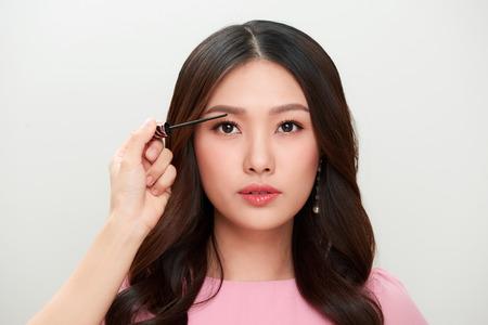 Portrait of beautiful woman make-up with mascara. Zdjęcie Seryjne