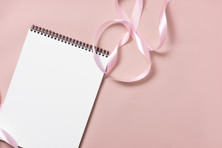 Wedding to do list with flowers. Mockup planner flat lay. 写真素材