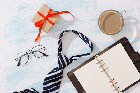 Happy Fathers Day. Gift Ideas for Dad with copyspace.