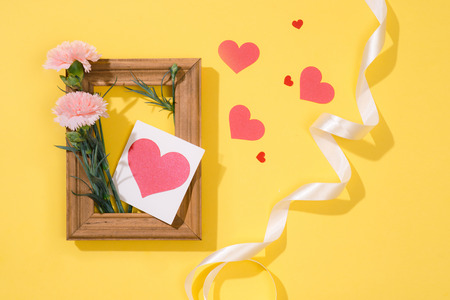 Love or valentines day concept. Spring or summer background