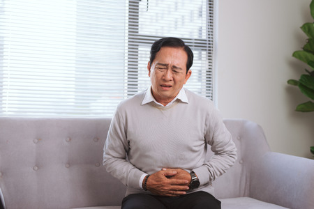 Senior asian man with 
