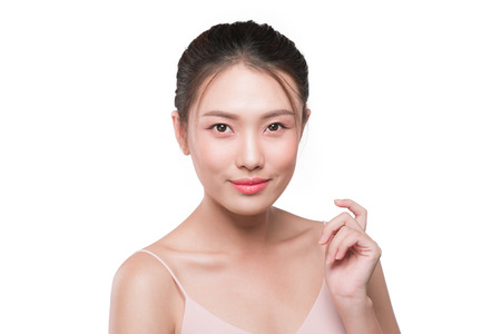 Beautiful female asian face with natural perfect skin Stok Fotoğraf
