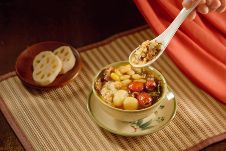 Ching bo leung is sweet cold soup in Chinese and Vietnamese cuisine