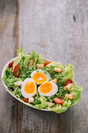 Caesar Salad isolated on white background Stock Photo