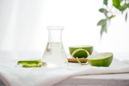 Citrus oil lemon natural over bright background Archivio Fotografico - 113192154