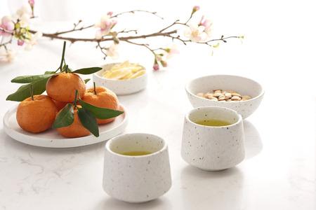 Decorazione del capodanno lunare tradizionale con cultura asiatica.