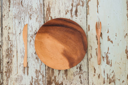 Rustic table setting on a wooden table
