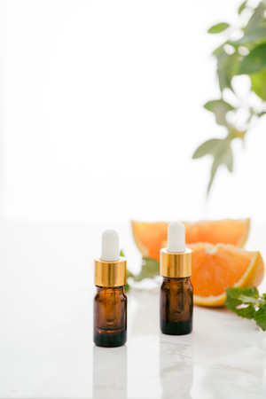Citrus oil natural orange Vitamin C Banco de Imagens