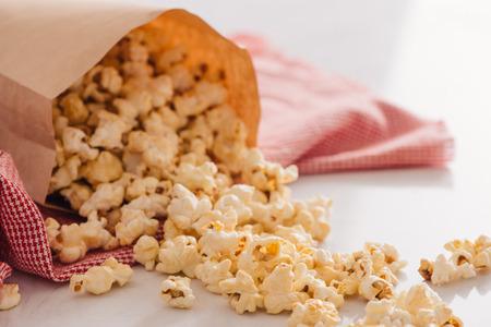 Homemade Kettle Corn Popcorn in a Bag