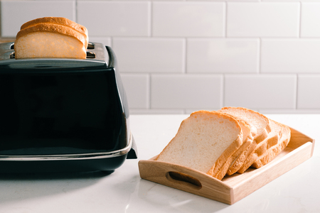 Toaster toasted bread sheet looking yummy for morning meal