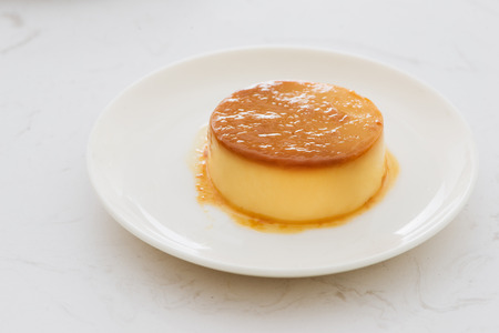 Homemade Creme Caramel with Sweet Syrup  Custard Pudding