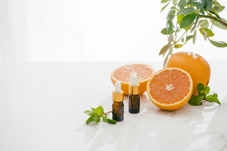 Citrus oil natural orange Vitamin C 免版税图像