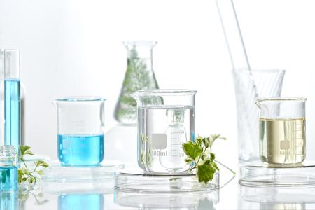 medicina herbaria cristalería orgánica y científica natural, concepto de investigación y desarrollo.