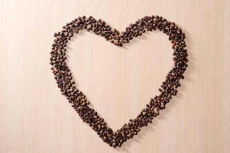 Heart shape with coffee beans