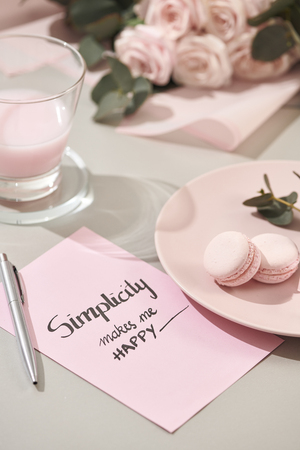 White background with pink and white objects