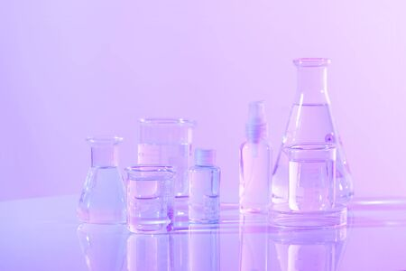 Scientific Glassware For Chemical, Laboratory Research Imagens