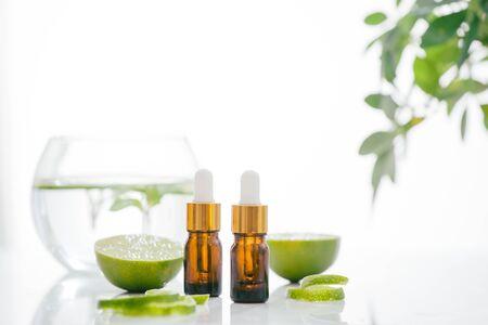 Citrus oil lemon natural over bright background Archivio Fotografico - 127135396