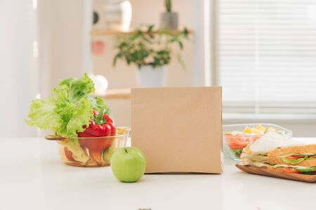 Breakfeast ready for kid to bring go to school