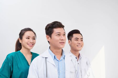 healthcare, hospital and medical concept - young team or group of doctors Reklamní fotografie - 133118675