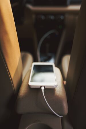 charge the battery phone in car.