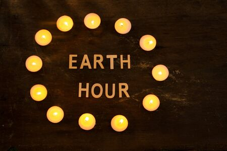 Energy saving. Concept by the hour of the earth, an hour without light