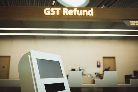 Tax refund booth at terminal
