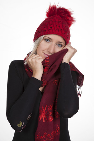 smells: Woman with hat and scarf 02
