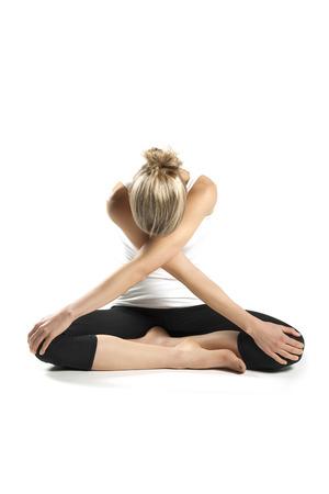 young female doing yoga exercise Banco de Imagens