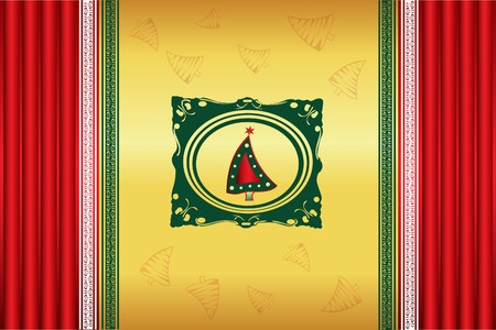 Abstract Christmas background  Illustration