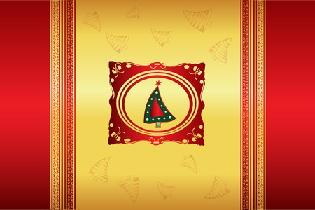 goldy: Abstract Christmas background  Illustration